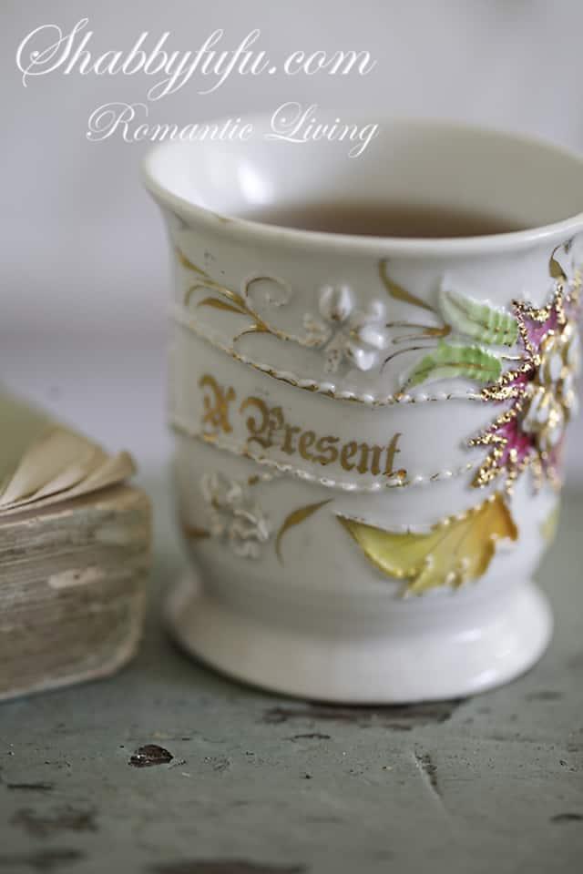 antique present cup