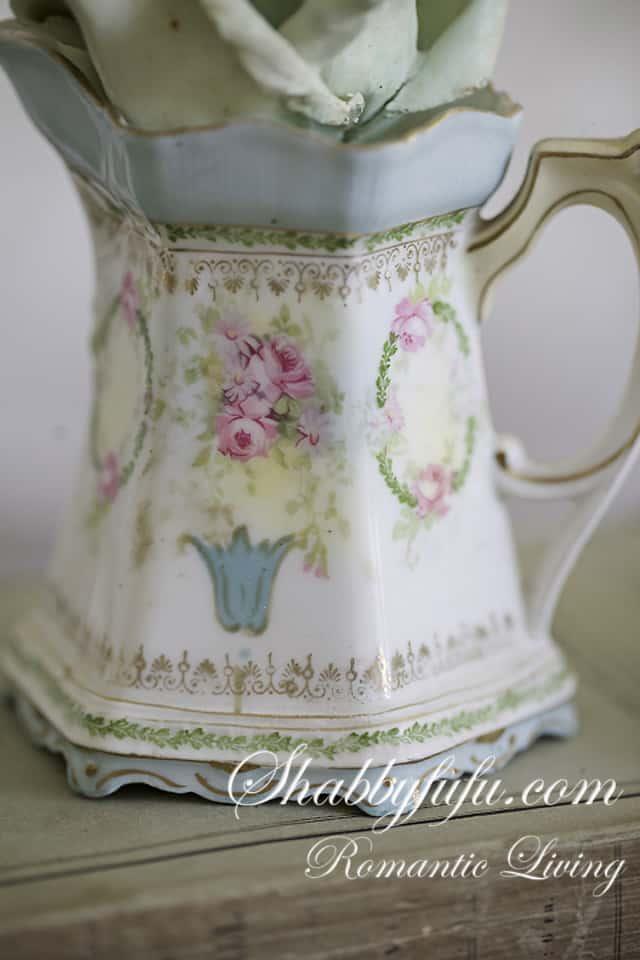 antique limoges pitcher