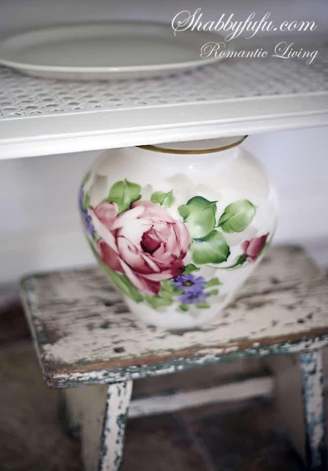 roses on a jar