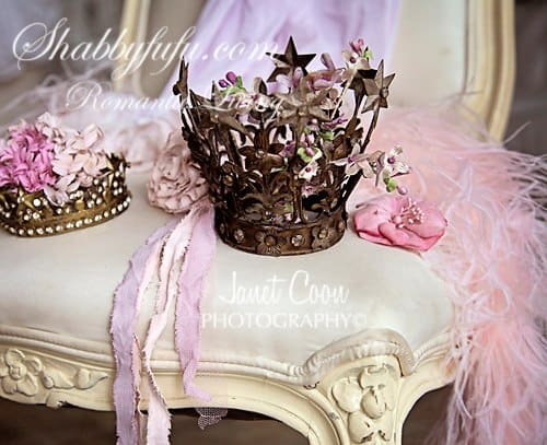 crowns on a chair