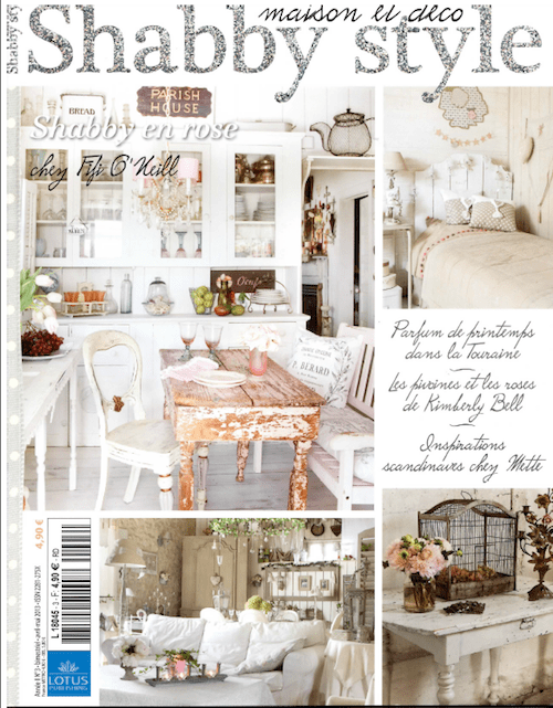 shabby style magazine cover in france