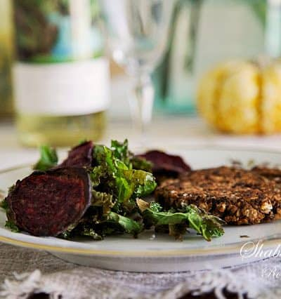 Quick Healthy Vegetarian Burgers and Beet Chips