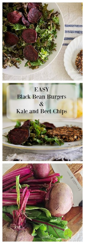 black-bean-burgers-kale-beet-chips