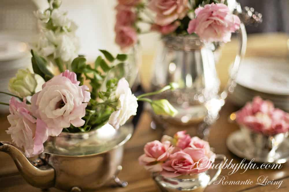 shabby chic floral arrangement for fall