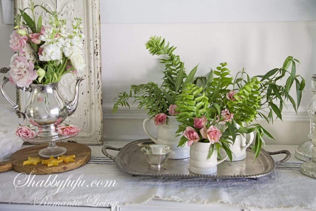 shabby chic fall decorating