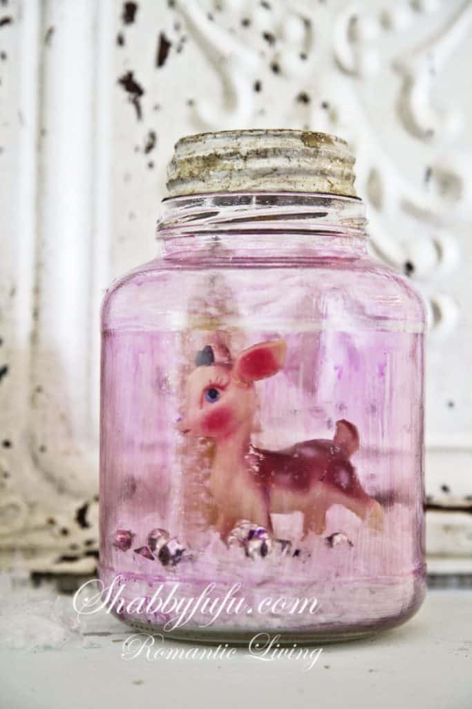 pink mason jar