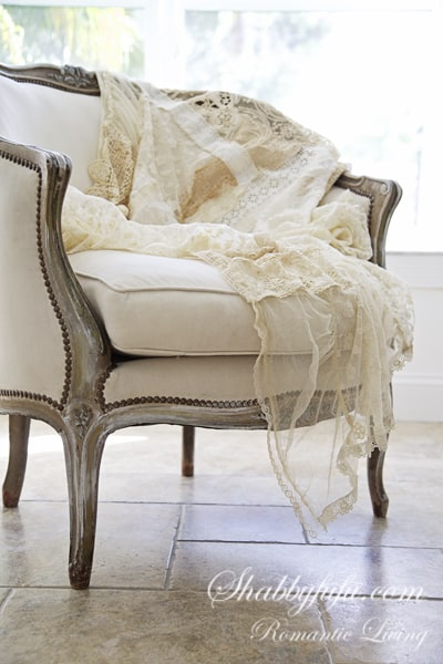 french lace throw