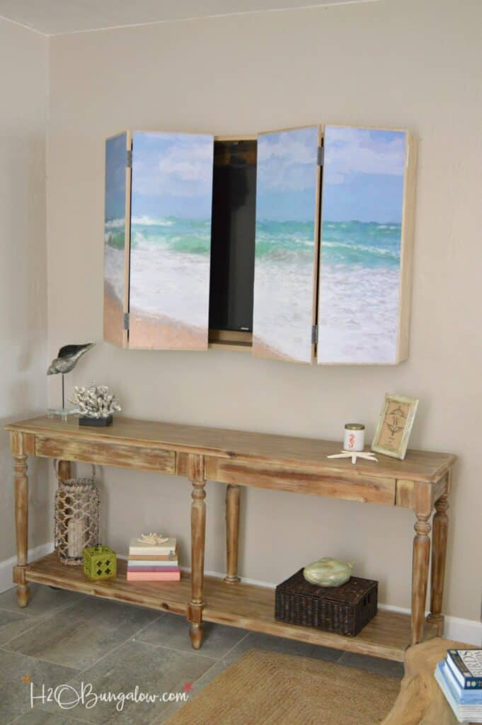 coastal hide a tv cabinet