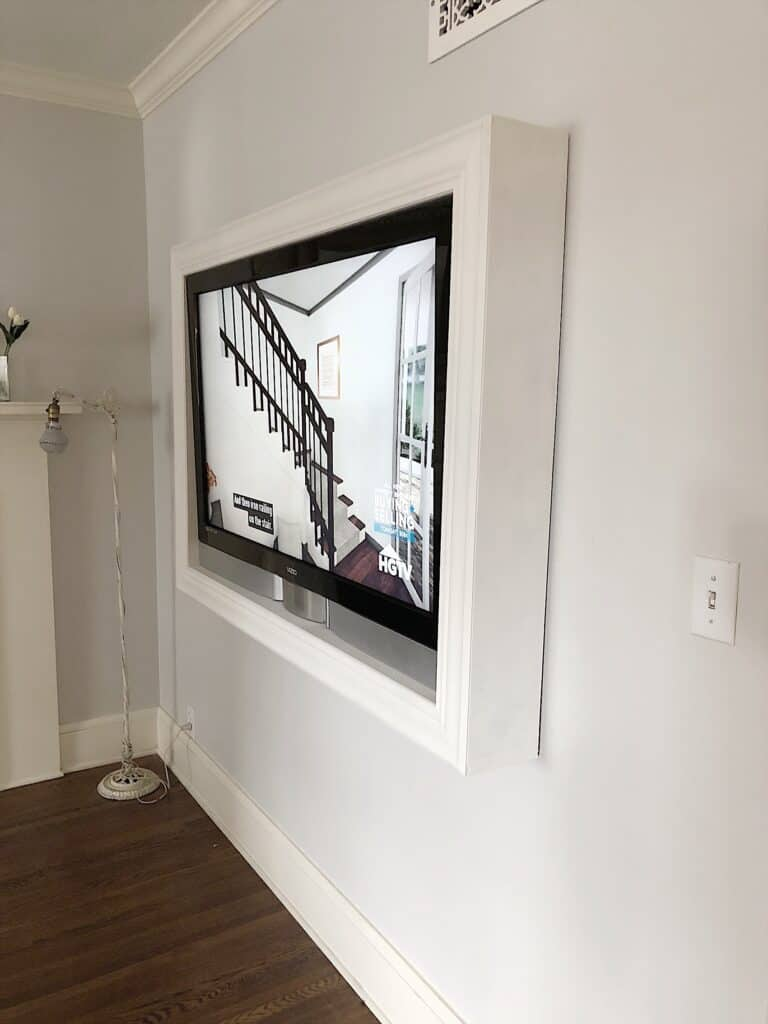 farmhouse tv wall idea