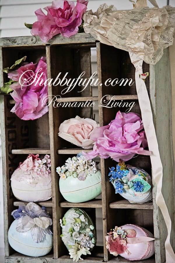 easter egg tutorial with millinery flowers
