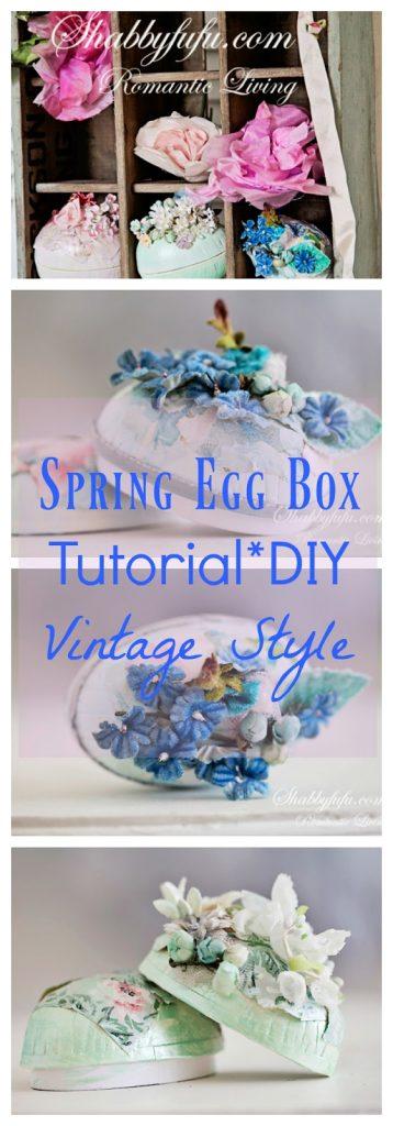 vintage easter egg box tutorial spring crafts