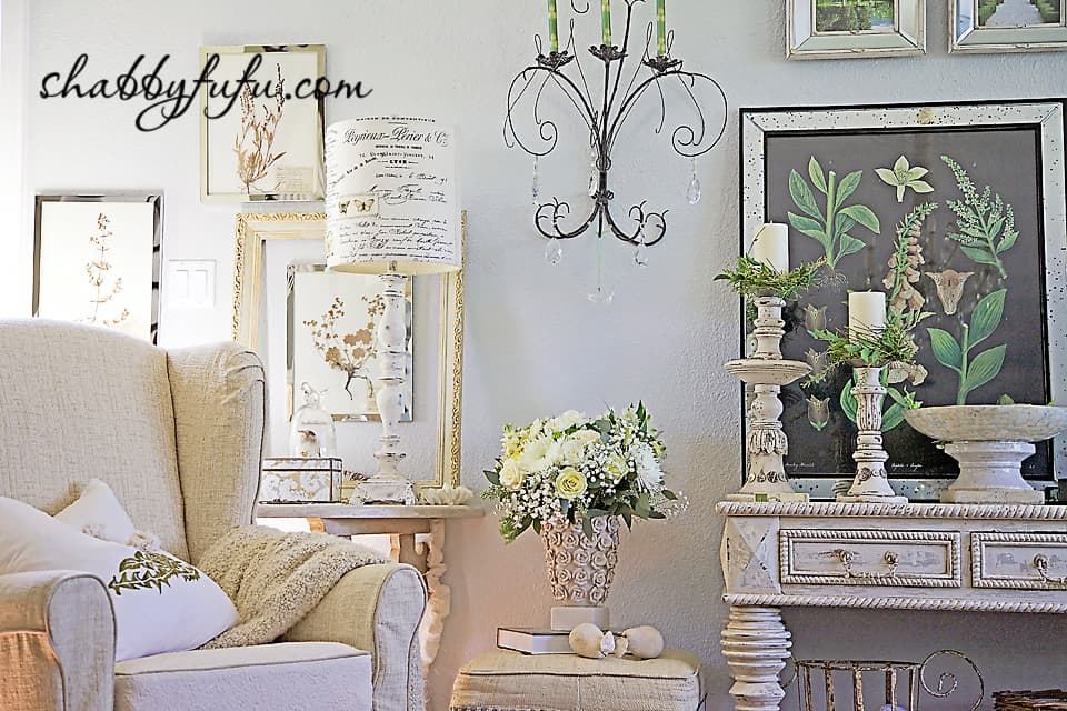 French country decor in Texas - details in a french style living room