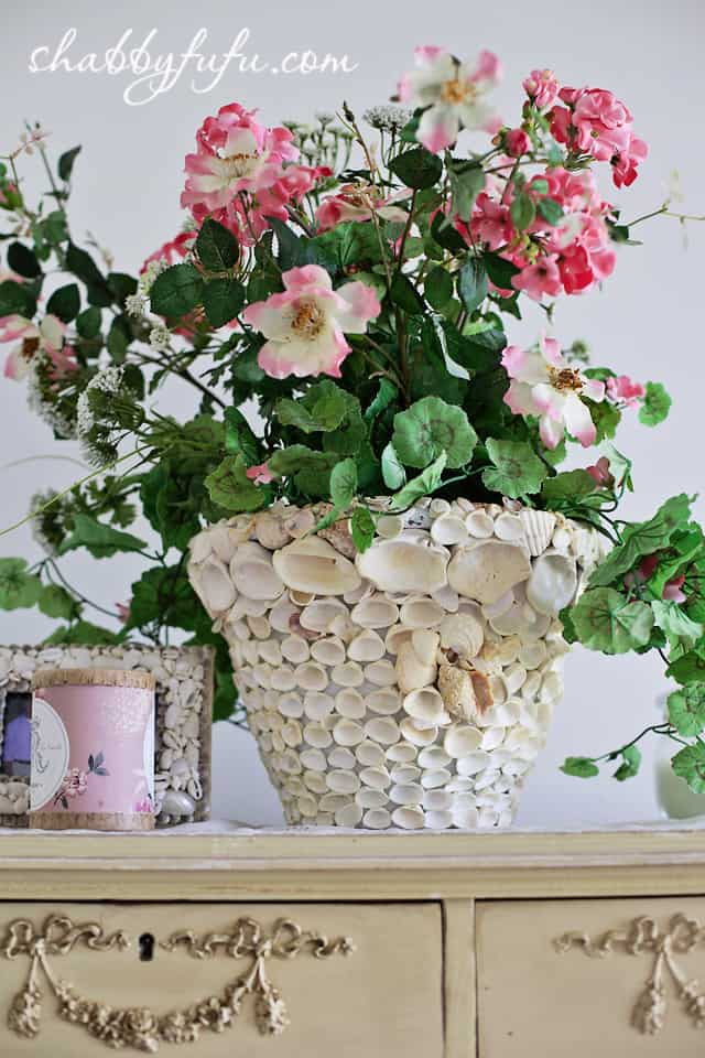 seashell planter