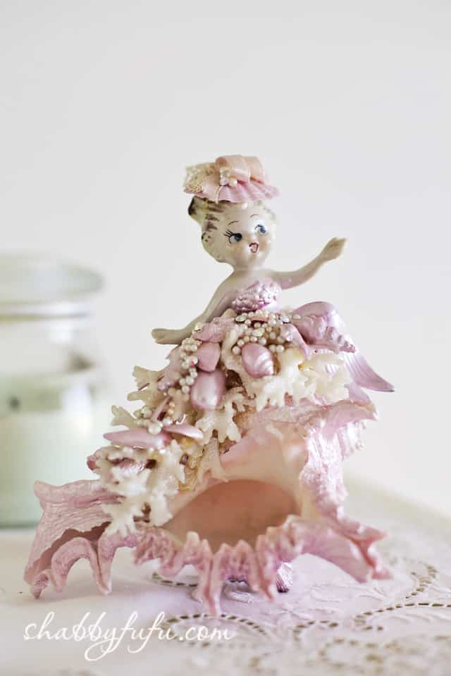 seashell girl figurine