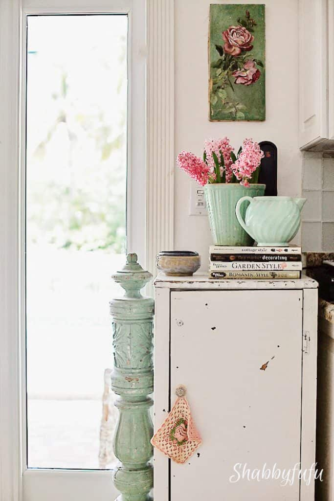 vintage kitchen cupboard and corbel