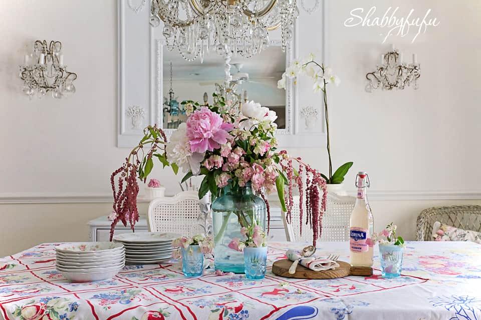 vintage tablecloths cottage charm