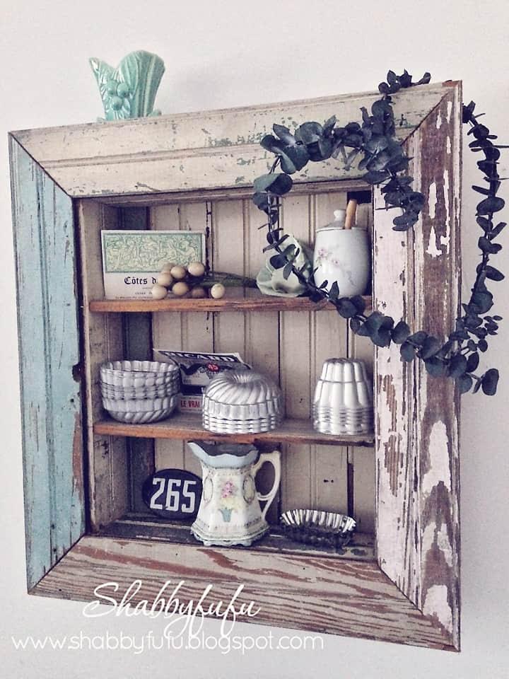 organizing a shelf