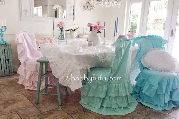 Iu0027m In Love With These Pastel Marie Antoinette~esque Chair Slipcovers That  Are Now Available In The Shop On~line And Will Change The Look Of One Ugly  ...