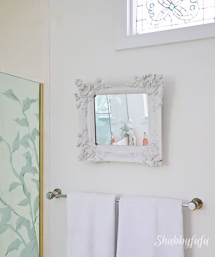 vintage frame made into mirror