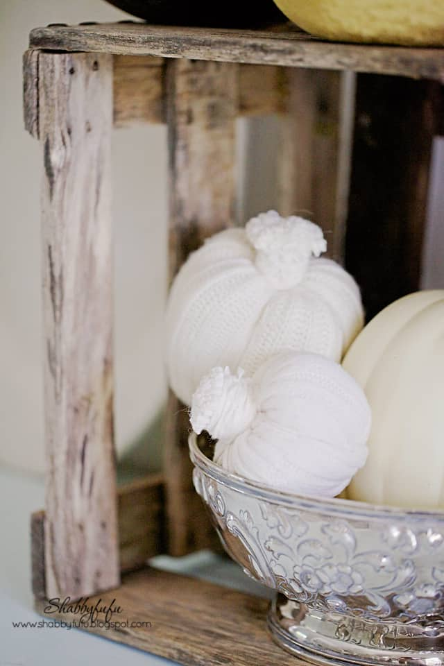 These soft white crochet pumpkins are perfect for any fall vignettes. It's sweater weather - even for pumpkins!