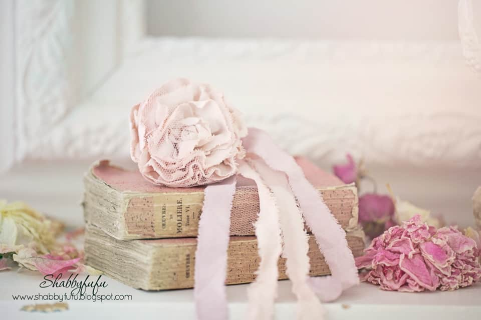 antique pink french books