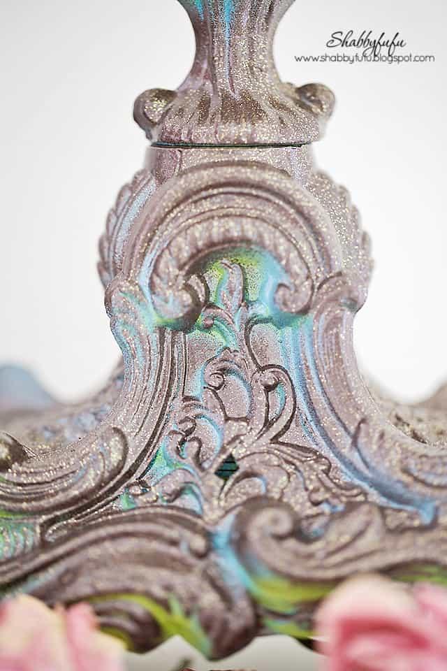 paint techniques on a candelabra