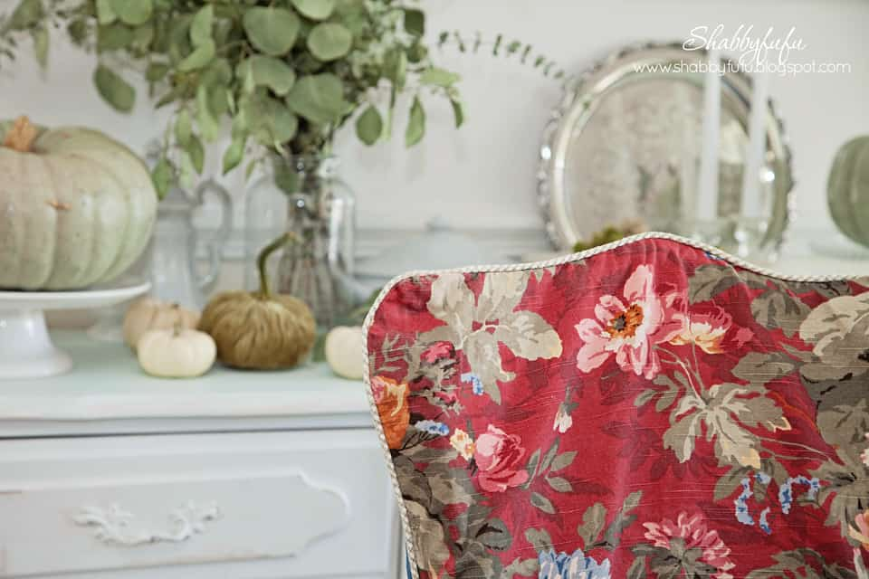 These Ralph Lauren~esque Chair Covers That Find Their Way Out Of The Linen  Closet Every Autumn And Add A Great Pop Of Color To Build My Faded Fall  Palette ...
