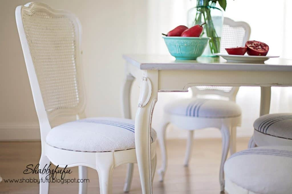 vintage cane chairs shabby chic