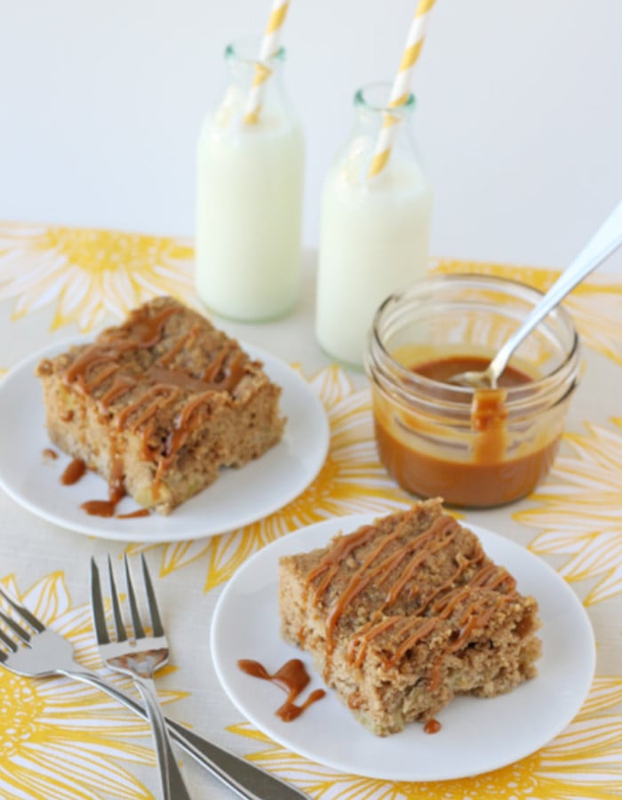 easy apple dessert recipes bars with caramel sauce
