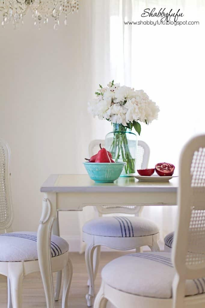 french breakfast room set caned chairs grainsack