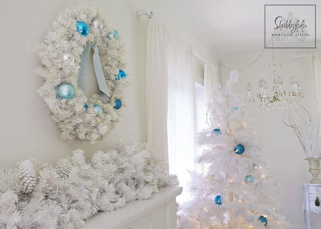 white and aqua christmas