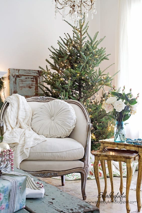 Vintage French Style Christmas Home
