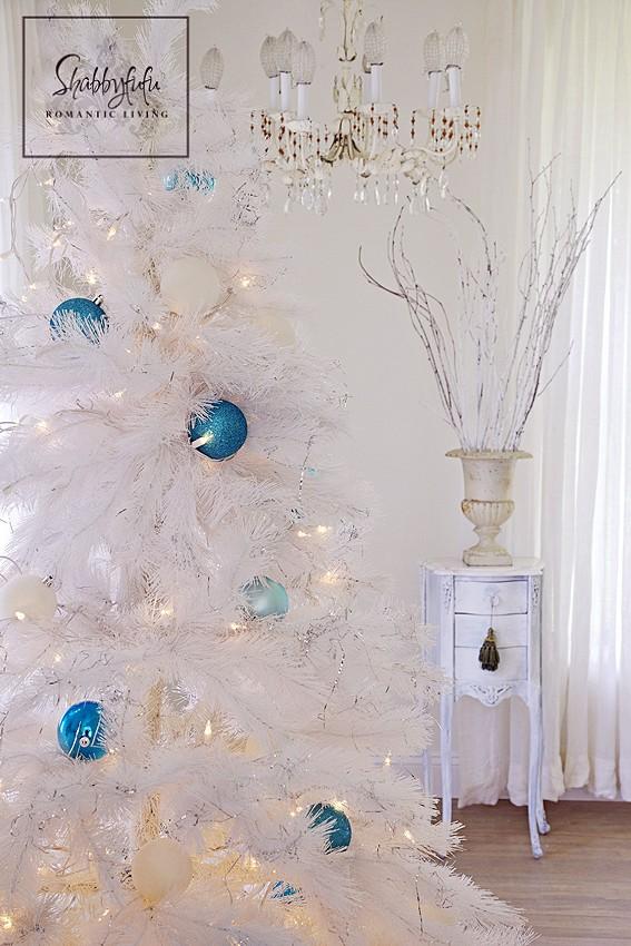 white coastal christmas tree
