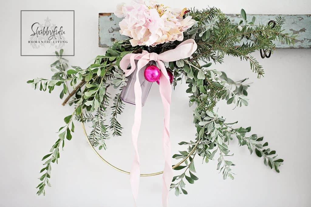 pretty christmas wreath diy