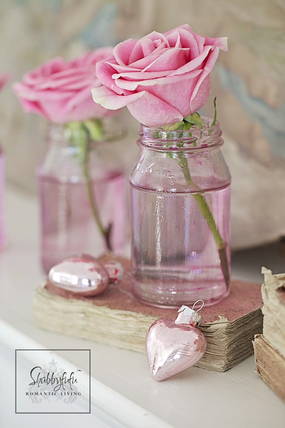 jelly jars pink