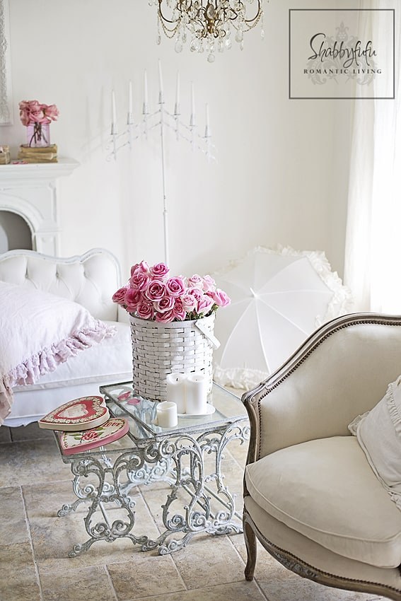 romantic valentines day room