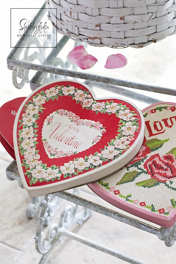 vintage valentine candy boxes