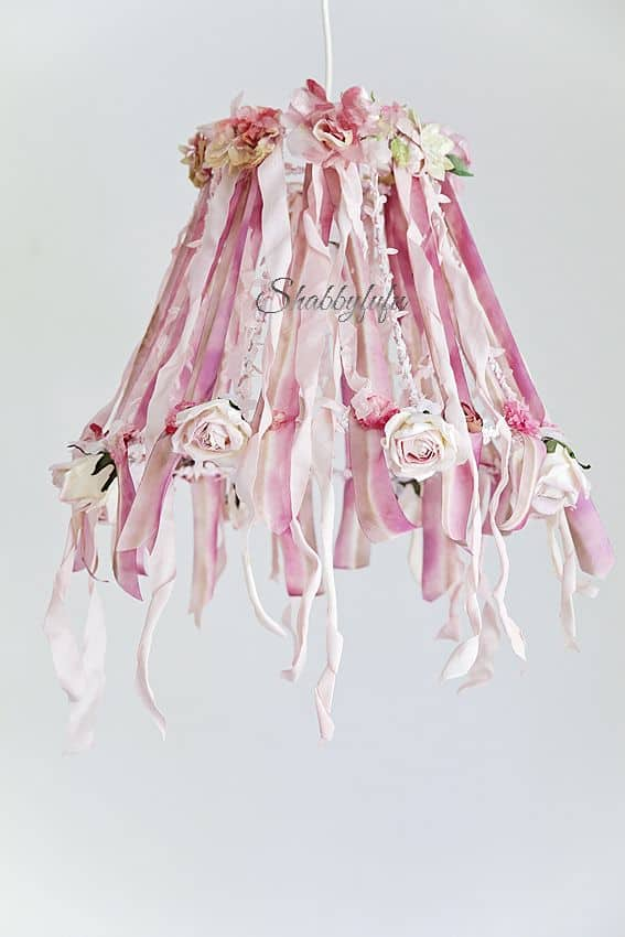 pink wedding chandelier