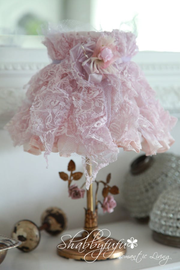 tulle lace lampshade