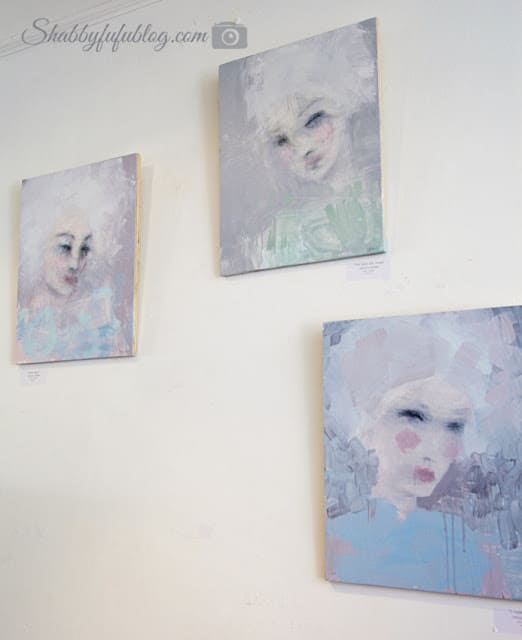 Portraits from the Shabby Chic Couture store done in beautiful blue and pink pastels. The perfect addition to any shabby chic style home.