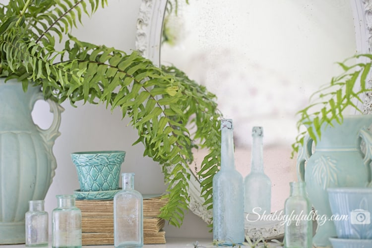 summer mantel decorating coastal beach style