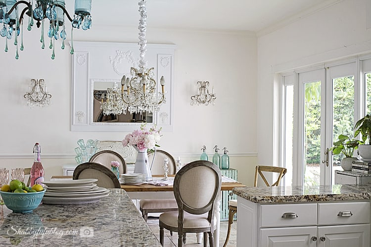 coastal cottage french style kitchen