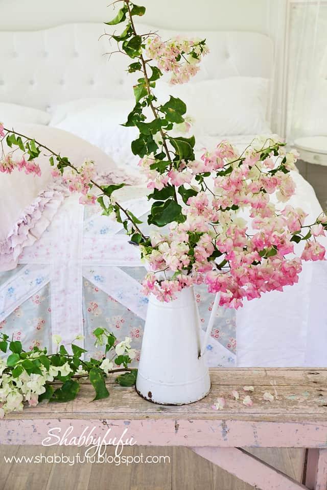 pink bougainvillea centerpiece