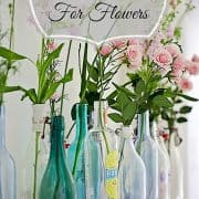 Using Bottles For Flowers…The Power Of Multiples In Display