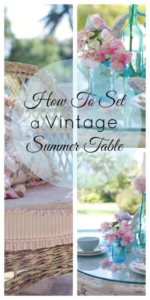 How I Style A Summer Table For Entertaining...DIY shabbyfufublog.com