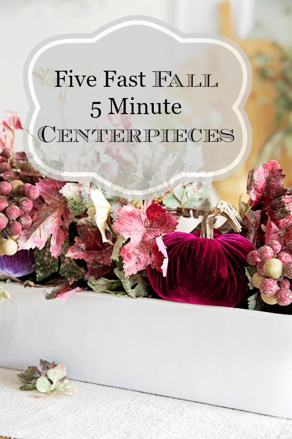 how to make five minute centerpieces