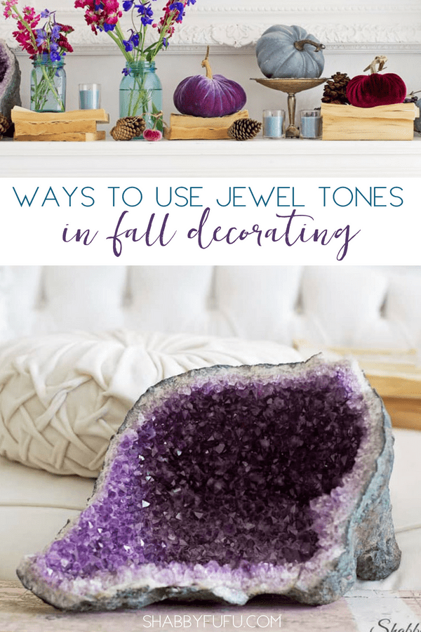 jewel tones fall decor