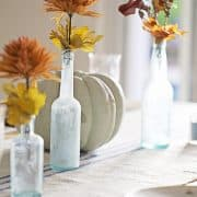 Decorating With Traditional Colors Of Autumn In A Table Setting