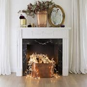 How To Create A Faux Fireplace When You Have No Real One