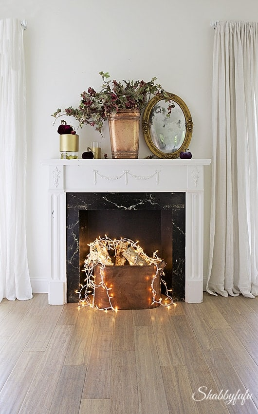 Fake Fireplace Idea When You Dont Have A Real One Shabbyfufucom